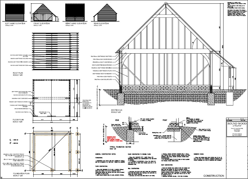 Oak framed buildings for A frame house plans with garage
