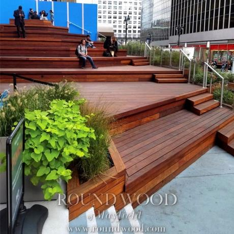 Oiled 140 x 19mm Smooth Cumaru Hardwood Decking