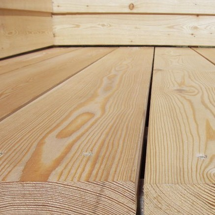 145mm x 22mm Smooth Siberian Larch Softwood Garden Decking