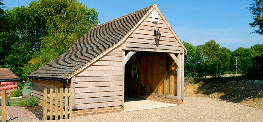 1-Bay Oak Framed Garage Car Port Building