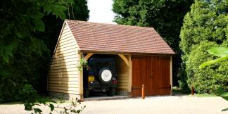 2-Bay Oak Framed Garages