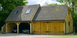 4-Bay Oak Framed Garage
