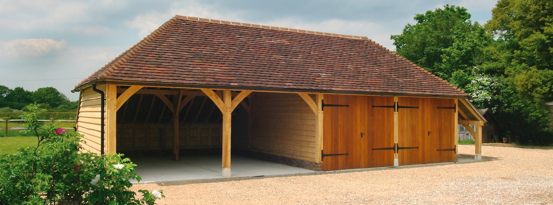4-Bay Oak Framed Garage Car Port Building