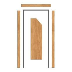 Oak Architrave Set 65mm x 18mm - Bevelled Profile