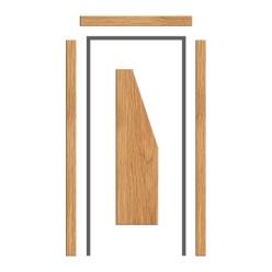 Oak Architrave Set  65mm x 18mm - Chamfered Profile