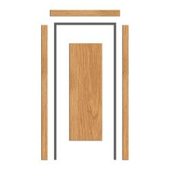 Oak Architrave Set  65mm x 18mm - PAR Profile