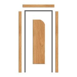 Oak Architrave Set  65mm x 18mm - Pencil Round Profile