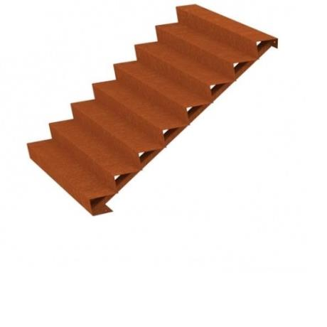 8 Step Corten Steel Stairs Landscape Feature