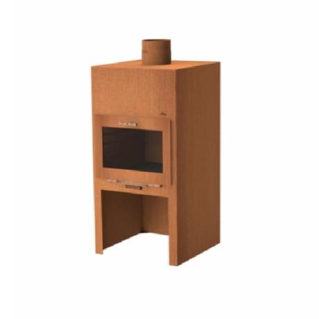Adezz Arvid Burner - Corten Steel - Wood Burner - Corten Steel / Garden Feature / Coal Fire Metal BBQ