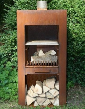 Stig Wood Burner BBQ Garden Feature