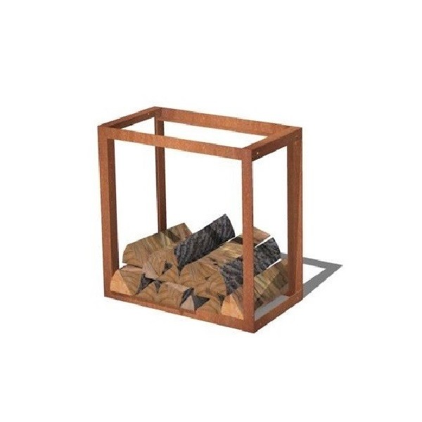 Corten Steel wood storage unit - linkable rust