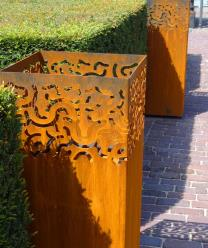 Corten Steel Ornamental Swirls Burner