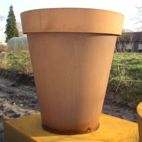 Adezz Corten Steel Planter Round Cylinder Flower Pot Container Tub Tree Shrub Large metal garden feature