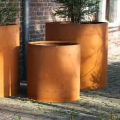 Corten Steel Atlas Cylinder Planter