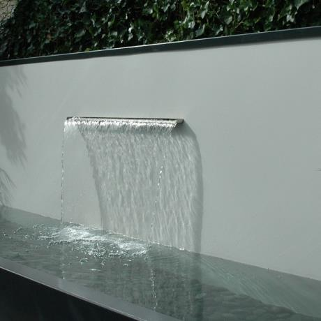 Stainless Steel Waterfall Out Flow for Adezz Water Feature