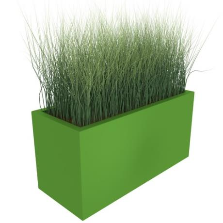 Aluminium Hones Rectangular Trough Garden Planter