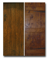 Antiqued Style Solid Oak Doors / Ledged (make to measure)