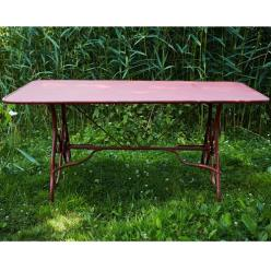 Antique Red Rosette Table