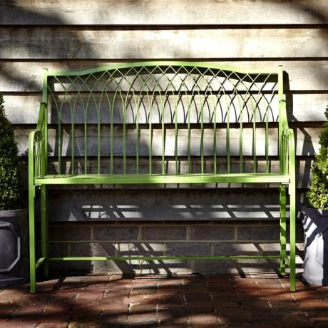 Wilton wrought iron Folding Bench - Green / garden bench / furniture / Castle Range / Fold away