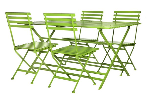 5 piece Canterbury Set in Green / garden furniture / fold away