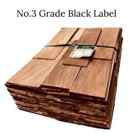 Bundle of No.3 Grade Black Label Cedar Shingles