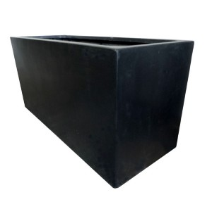 Black Polystone Large Jumbo Rectangular Trough Garden Planter