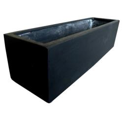 Black Polystone Small Trough Planter
