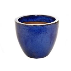 Blue Glazed Egg Pot