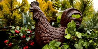 Cast Iron Garden Statues; Chicken
