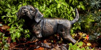 Cast Iron Garden Statues; Bronze Puppy Dog