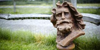 Cast Iron Garden Statues; Mighty Zeus