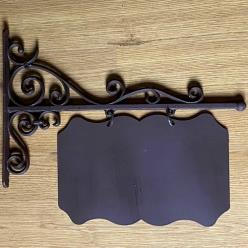 Cast Iron Ornate Sign Board