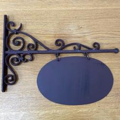 Cast Iron Oval Sign Board
