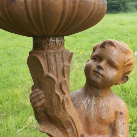 Cast Iron Cherub Planter Pair / Garden Feature / Garden Statue