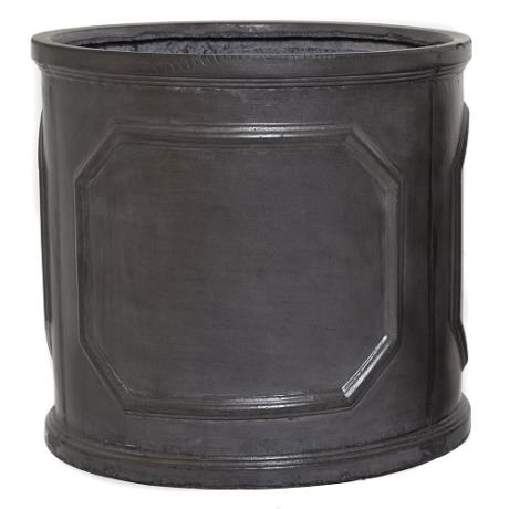 Faux Lead Clayfibre Chelsea Round Cylinder Garden Planter