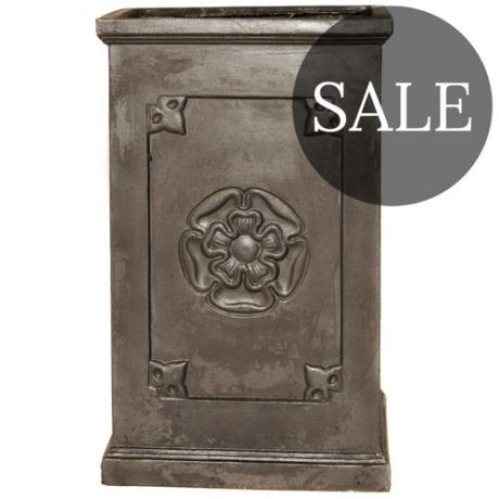 *SALE* Faux Lead English Heritage Clayfibre Tall Rose Box Square Garden Planter