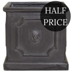 *HALF PRICE* Clayfibre Lion Head Square Planter