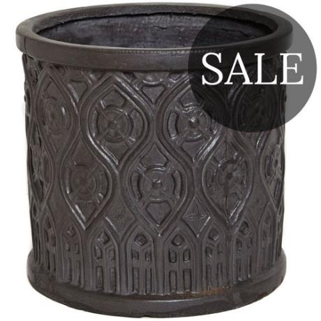 *SALE* Faux Lead Clayfibre Mayfield Round Cylinder Garden Planter
