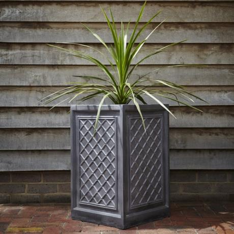 Faux Lead Clayfibre Tall Windsor Square Box Garden Planter