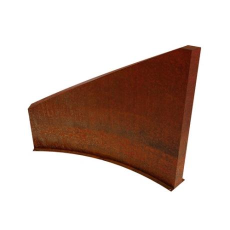 Coris Corten Steel Wall Landscape Garden Feature