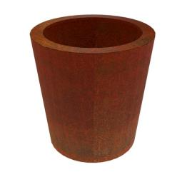 Corten Steel Conc Tapered Cylinder Planter