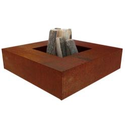 Square Flama Corten Steel Fire Table