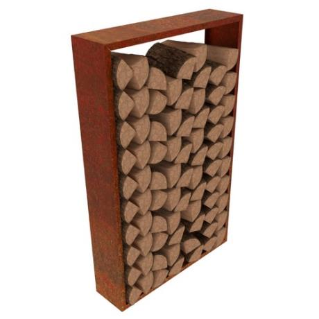 Corten Steel Lignum Wood Log Store