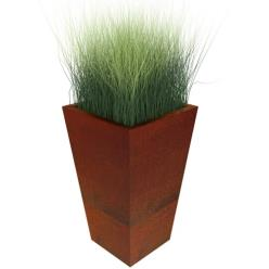 Corten Steel Manga Tapered Square Planter