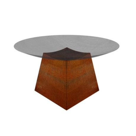 Corten Steel Subo Stand Fire/Water Bowl Accessory