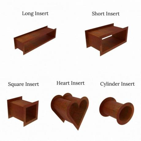 Corten Steel Wood Log Storage Inserts/Accessories