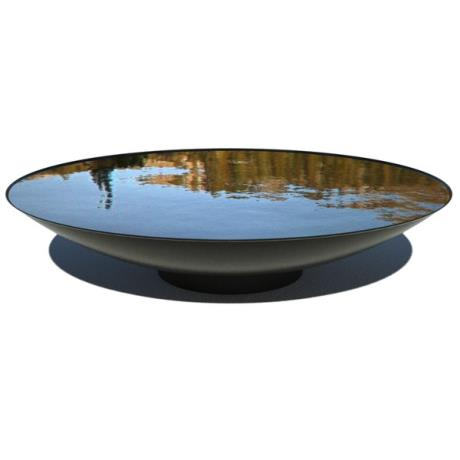 Curved Powder Coated Steel Water Bowl Garden Landscape Feature