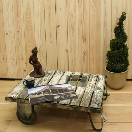 Reclaimed trolley coffee table