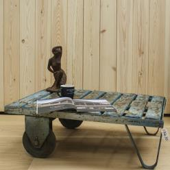 Reclaimed Trolley Coffee Table 10