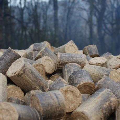 Mechanically compressed Eco Nuggets produced from eco-friendly wood waste